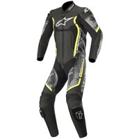 Alpinestars Motegi v2 One Piece Leathers (Black|Camo| Flo Yellow)