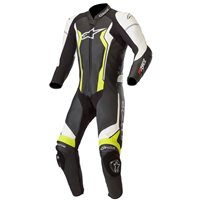 Alpinestars GP Force One Piece Leathers (Black|Flo Yellow)