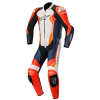 Alpinestars GP Force One Piece Leathers (Red|Black|White|Orange)