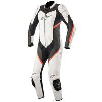 Alpinestars Stella Kira One Piece Leathers (White|Black|FloRed)