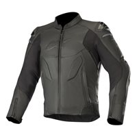 Alpinestars Caliber Leather Motorcycle Jacket (Black)
