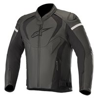 Alpinestars Jaws V3 Leather Motorcycle Jacket (Black|Black)