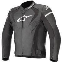 Alpinestars Jaws V3 Leather Motorcycle Jacket (Black)
