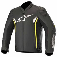 Alpinestars SP-1 v2 Leather Jacket (Black|Flo Yellow)