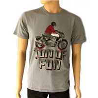 Royal Enfield Ton Of Fun T-Shirt (Grey)