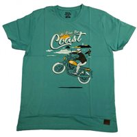 Royal Enfield Do It On The Coast T-Shirt (Teal)