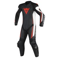 Dainese Assen Perforated One Piece Leathers (Black|White|Red)
