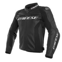 Dainese Racing 3 Motorcycle Leather Jacket (Black)