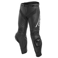 Dainese Delta 3 Leather Trousers (Black|Black|White)