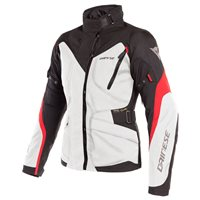 Dainese Tempest 2 D-Dry Womens Textile Jacket (Light Grey|Black|Red)