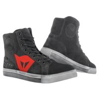 Dainese Street Biker D-WP Shoes (Carbon-Dark/Red)