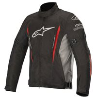 Gunner v2 WP Textile Jacket (Black|Grey|Red) by Alpinestars
