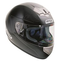 Box BX-1 Motorcycle Helmet (Black) - Micro Ratchet Strap