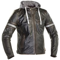 Richa Toulon 2 Leather Jacket Hoodie (Black)