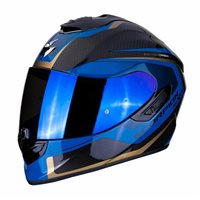 Scorpion Exo 1400 Carbon Helmet Espirit Blue