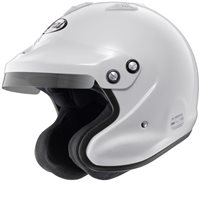 Arai GP-J3 Open Face Car Helmet (W/M6 Studs) White