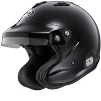 Arai GP-J3 Open Face Car Helmet (W/M6 Studs) Black