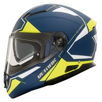 Vemar Sharki Cutter Flip Front Helmet (Matt Deep Blue|Fluo Yellow)