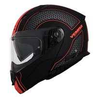 Vemar Sharki Hive Flip Front Helmet (Black|Fluo Orange)