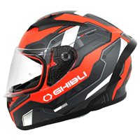 Vemar Ghibli Robot Motorcycle Helmet (Matt Red|Grey)