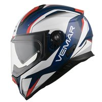 Vemar Zephir Lunar Motorcycle Helmet (Deep Blue|White|Red)