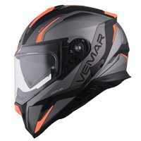 Vemar Zephir Lunar Motorcycle Helmet (Matt Orange|Silver)