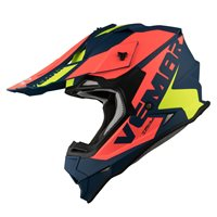 Vemar Taku Blade Moto-X Helmet (Matt Navy|Orange)
