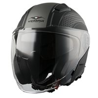Vemar Feng Hive Open Face Helmet (Matt Black|Grey)