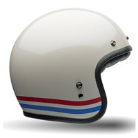 Bell Custom 500 Deluxe Stripes Helmet (Pearl White)