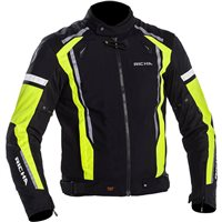 Richa Airwave Textile Motorcycle Jacket (Black/Fluo Yellow)