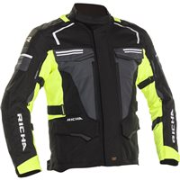 Richa Touareg 2 Textile Jacket (Black/Fluo Yellow)