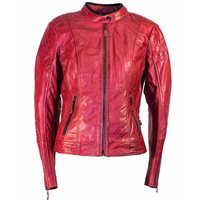 Richa Lausanne Ladies Leather Jacket (Red)