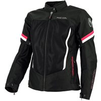 Richa Airbender Womens Textile Jacket (Black/Fucsia)