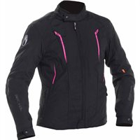 Richa Chloe Womens Textile Jacket (Black/Pink)