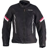 Richa Eve Womens Textile Jacket (Black/White/Pink)