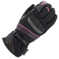 Richa Ella Ladies W/P Motorcycle Gloves (Black/Pink)