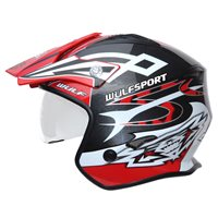 Wulfsport Cub Vista Trials Helmet (Red)