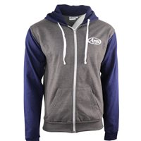 Arai Casual Full Zip Logo Hoodie (Grey|Navy)