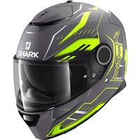 Shark Spartan Antheon Helmet (Matt Anthracite|Yellow|Black)