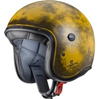 Caberg Freeride Yellow Brushed Open Faced Helmet