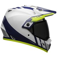 Bell MX-9 Adventure MIPS Dash Helmet (White|Blue|Hi-Viz)