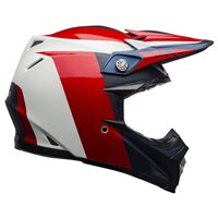 Bell Moto-9 Flex Division Helmet (White|Blue|Red)