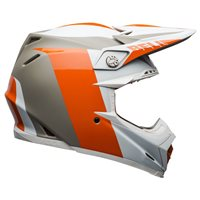 Bell Moto-9 Flex Division Helmet (White|Orange|Sand)