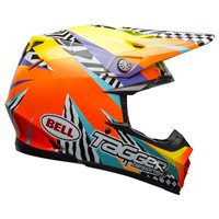 Bell Moto-9 MIPS Tagger Brakout Helmet (Orange|Yellow)