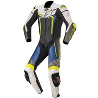 Alpinestars Motegi v3 One Piece Leathers (Black|White|Metallic Grey|Blue)