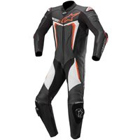 Alpinestars Motegi v3 One Piece Leathers (Black|Flo Red|White)