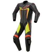 Alpinestars Motegi v3 One Piece Leathers (Black|Flo Red & Yellow)