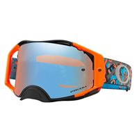 Oakley MX Goggles Airbrake Camo Vine Night Orange Blue (Prizm Sapphire Iridium Lens)