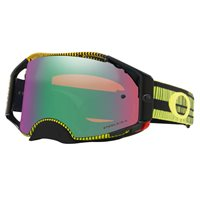 Oakley MX Goggles Airbrake Frequency Green Yellow (Prizm Jade Iridium Lens)