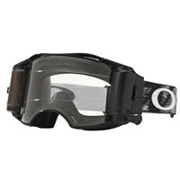 Oakley MX Goggles Airbrake Jet Black Speed Race Ready Roll Off (Clear Lens)